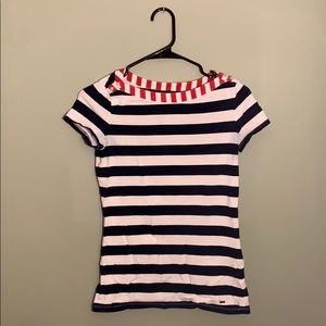 Tommy Hilfiger • Blue & White Striped Tee